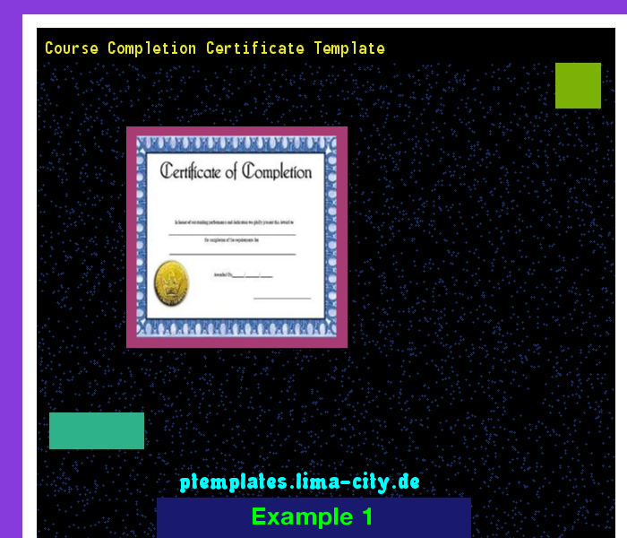 Course Completion Certificate Template Powerpoint Templates