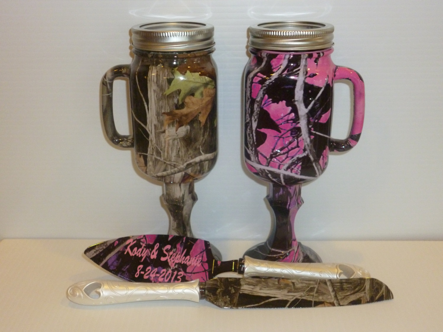 Set of camo beer mugs and personalized wedding cake by RuttinCamo ...
