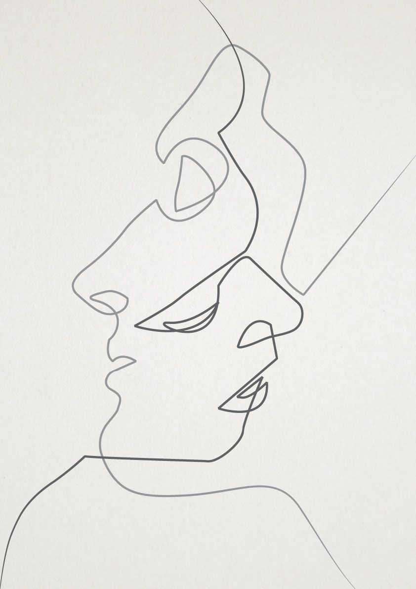 Like the 2 clean lines that simply strike through in a single piece of drawing