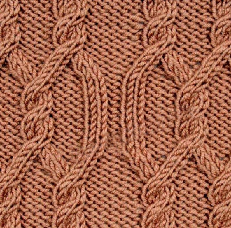фото узор из трех три спицами работа фрагментом