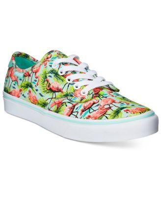 8463fb79a5 Vans Women s Camden Deluxe Flamingo Lace-Up Sneakers