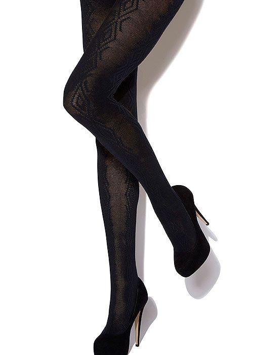 bb7d3fbf732a4 Charnos Cotton Cable Diamond Knit Tights | Cable knit tights | Cable ...
