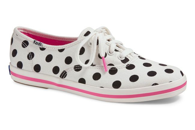 2bc9c30ad92a Keds Gets a Second Dose of Kate Spade Fun  Keds for Kate Spade Polka Dot  Sneakers