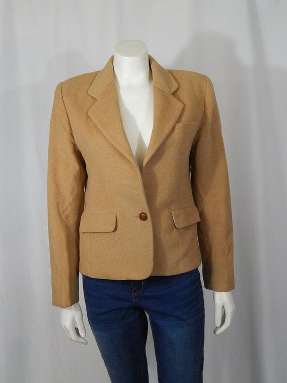 05758666a0f0 Vintage Women's Camel Hair 6 Small S Jacket Blazer Lord & Taylor The  Country Clothes Shop 80s Eighti