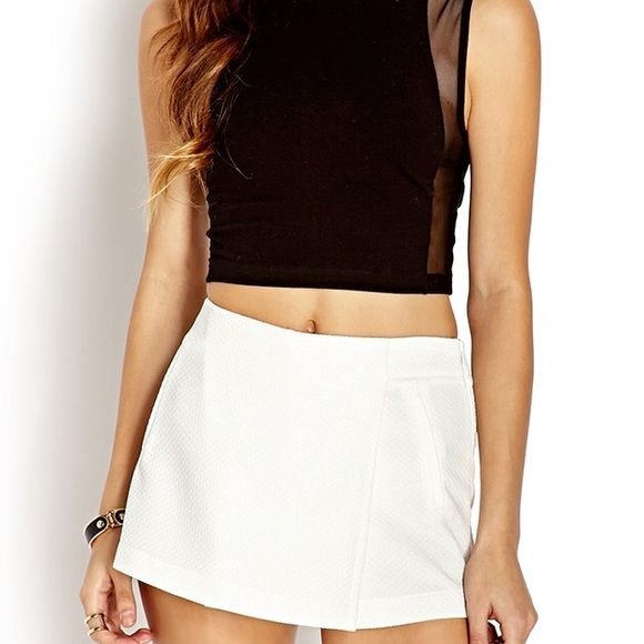 New ! Ivory skort Ivory textured skort . Comfortable fitting , new .price is negotiable , send me an offer :) Forever 21 Skirts