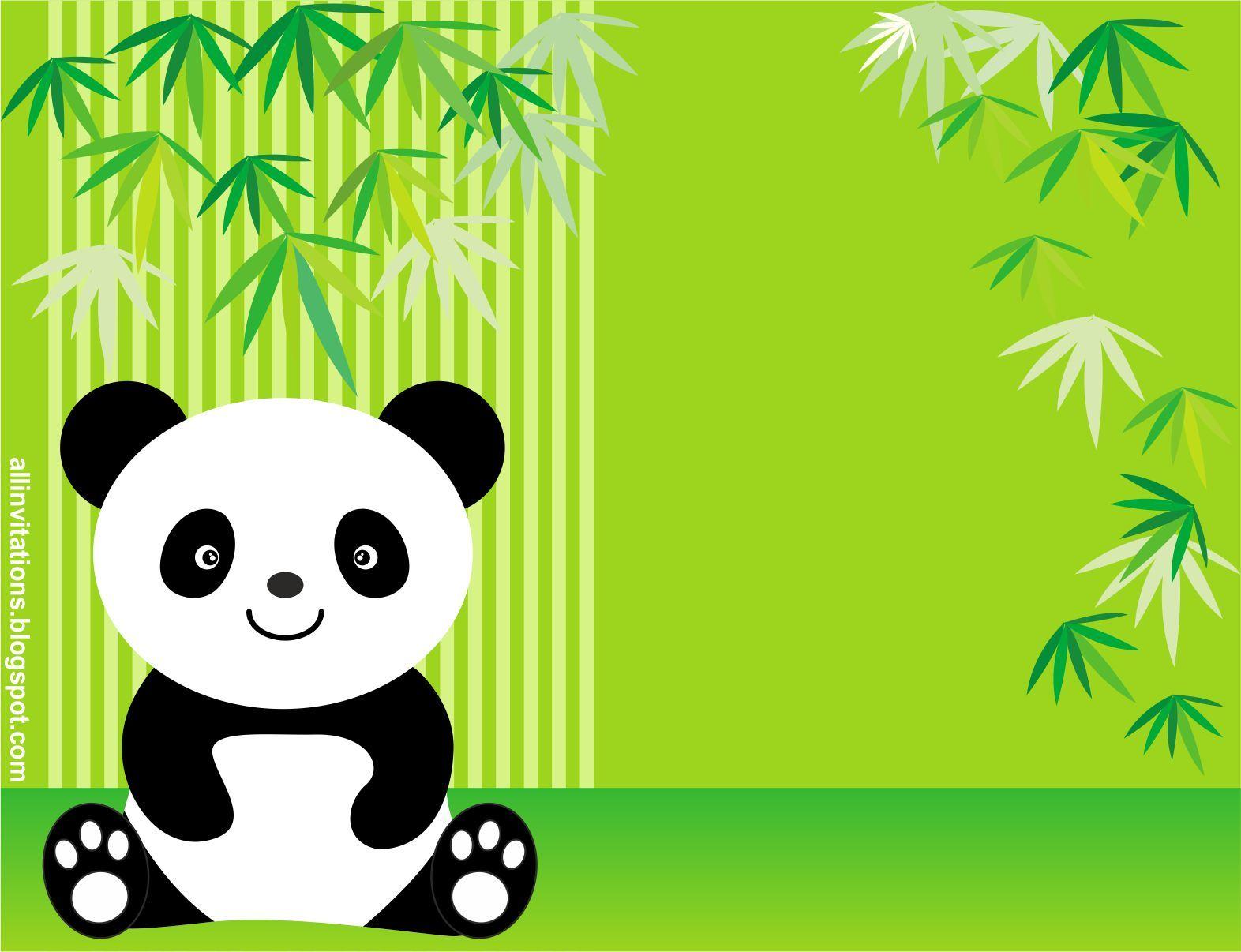 Plantilla Invitacion Baby Shower Osito Panda Mis