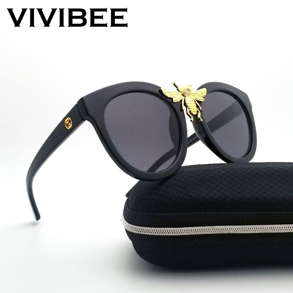 0f0221c578 VIVIBEE 2019 Oversized Squre Big Bee Women Large Sunglasses Vintage Style  UV400 Brand Designer Sun Glasses