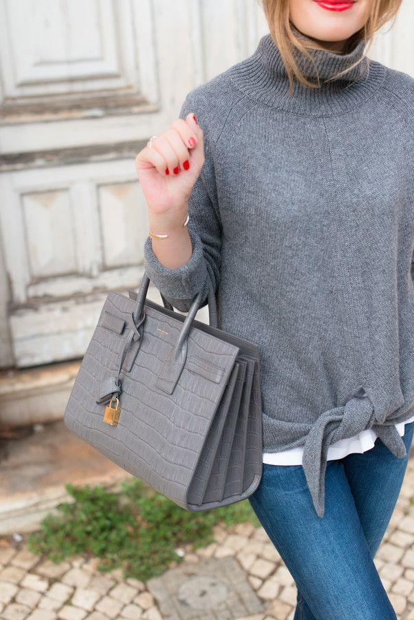 2c599e18879 Sac de Jour Saint Laurent Gris | Bags | Fashion bags, Fashion ...