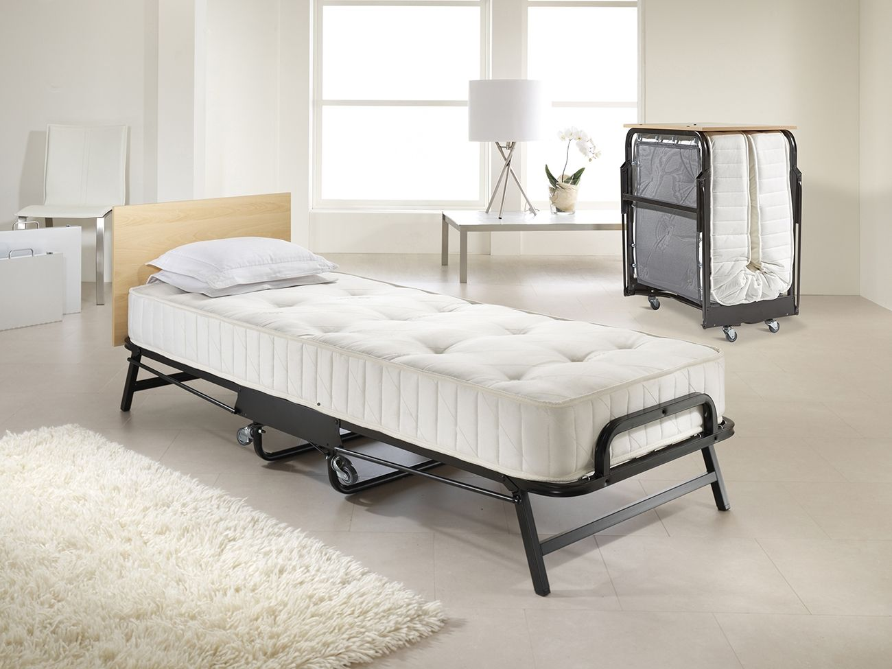 - Jaybe Crown Premier Single Folding Bed With Sprung Mattress Folding Guest  Bed, Guest Bed, Folding Beds