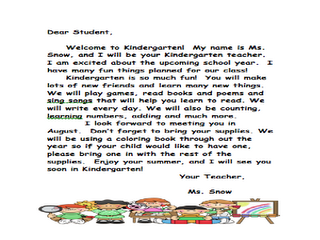 Welcome letter that i send to my new students in august school welcome letter that i send to my new students in august spiritdancerdesigns Images