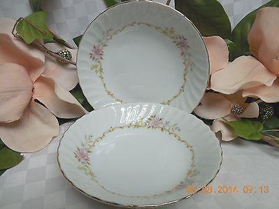 Mikasa China Dinnerware Gaylord Pink Flower Pattern #511 set 2 Fruit/sauce Bowl