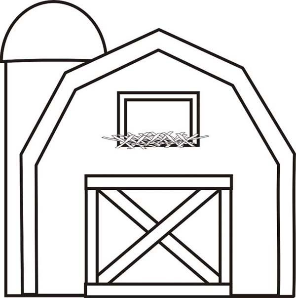 Free Barn Coloring Pages