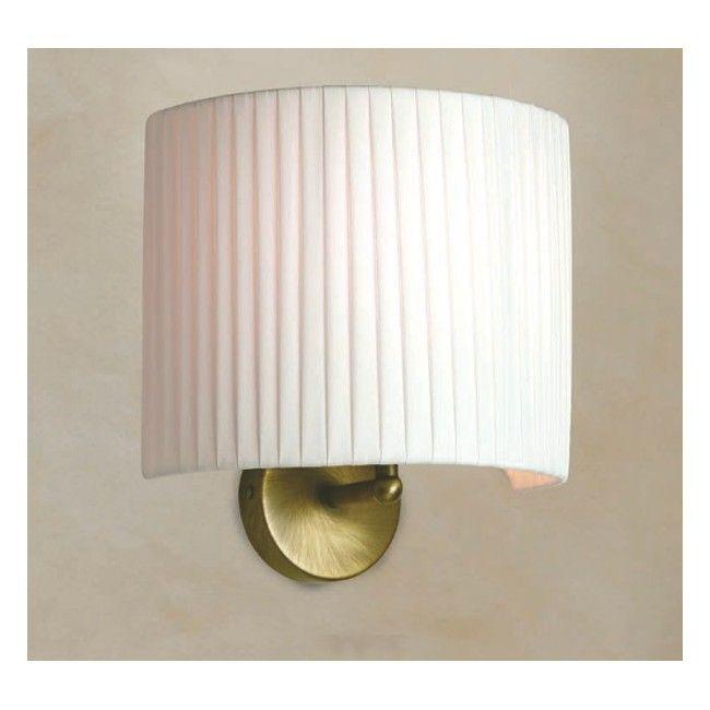 Applique LM 6985 E27 60W lampada parete classico metallo