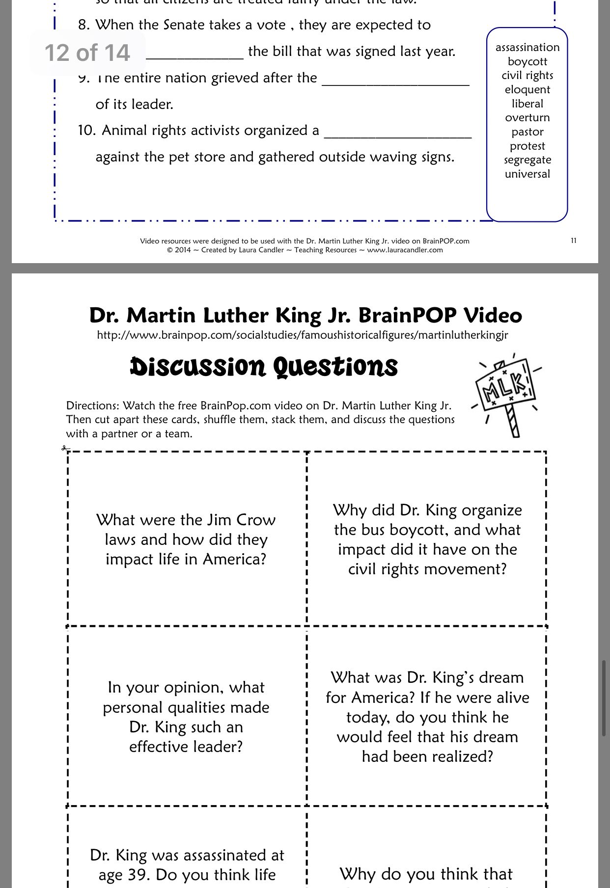 Pin By Rosa Smith On Dr Martin Luther King Jr Classroom Printables Dr Martin Luther King Eloquent
