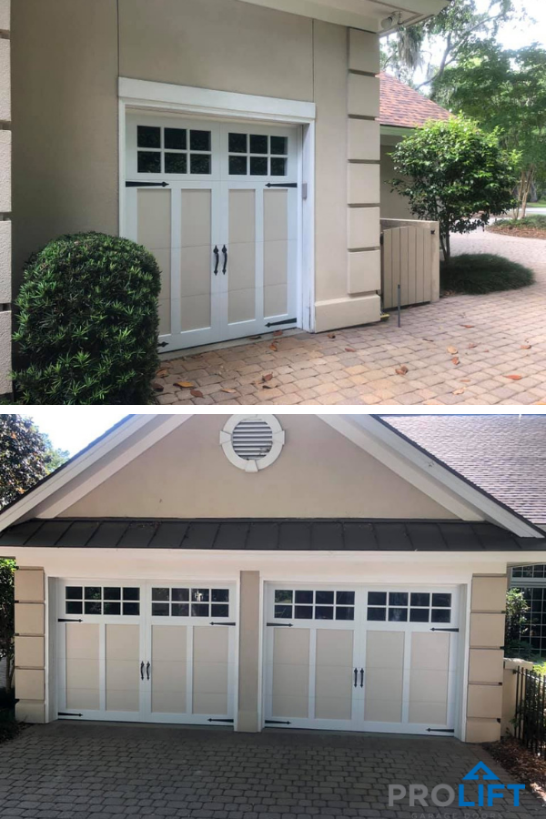 In Some Neighborhoods And Communities Garage Door Uniformity Is Required In This Instance A Do Modern Garage Doors Faux Wood Garage Door Garage Door Design