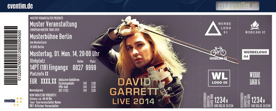 david garrett tickets | David Garrett - Live 2014 mit seiner legendären Band & großem ...