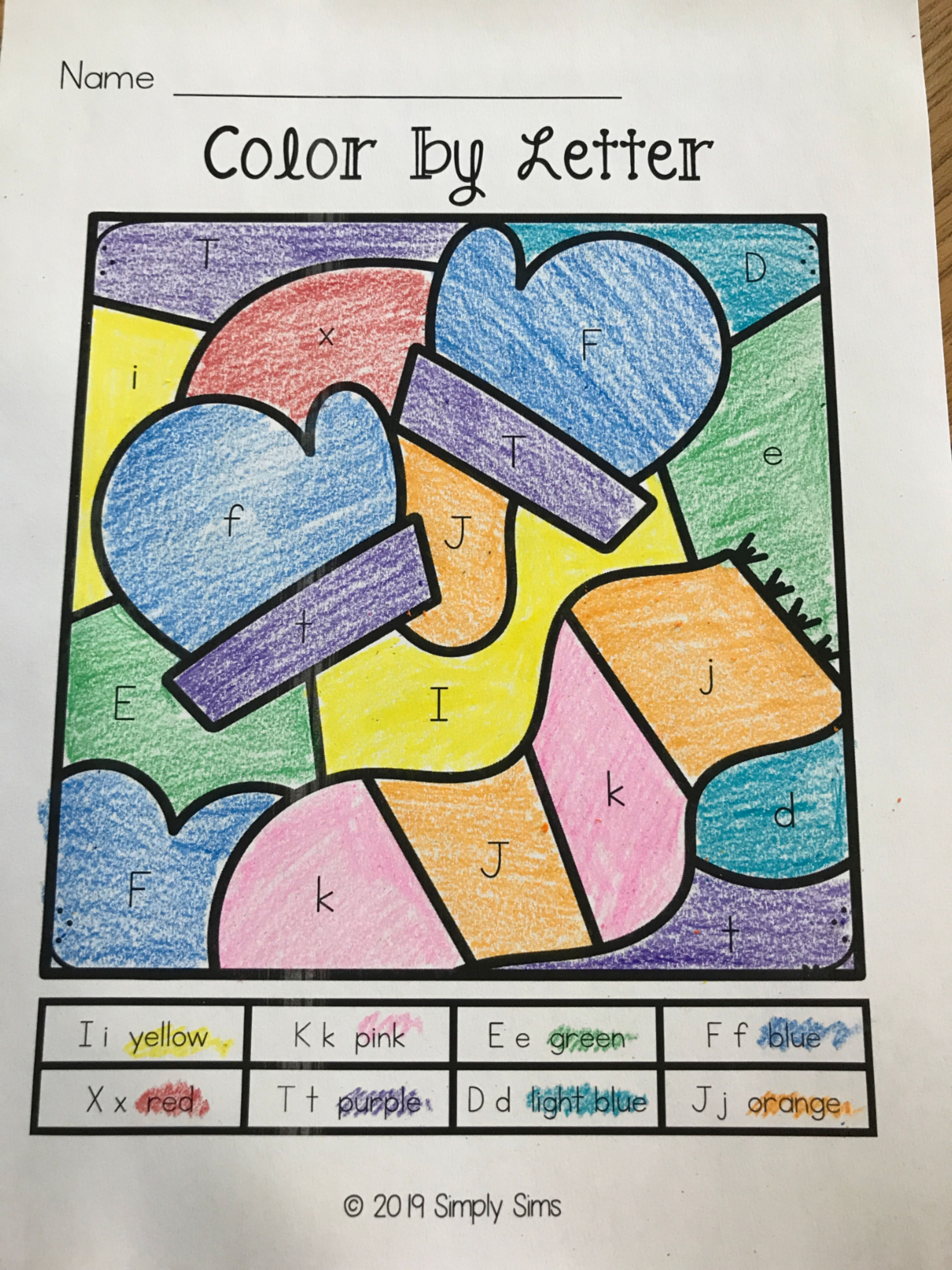 Differentiated Color By Code