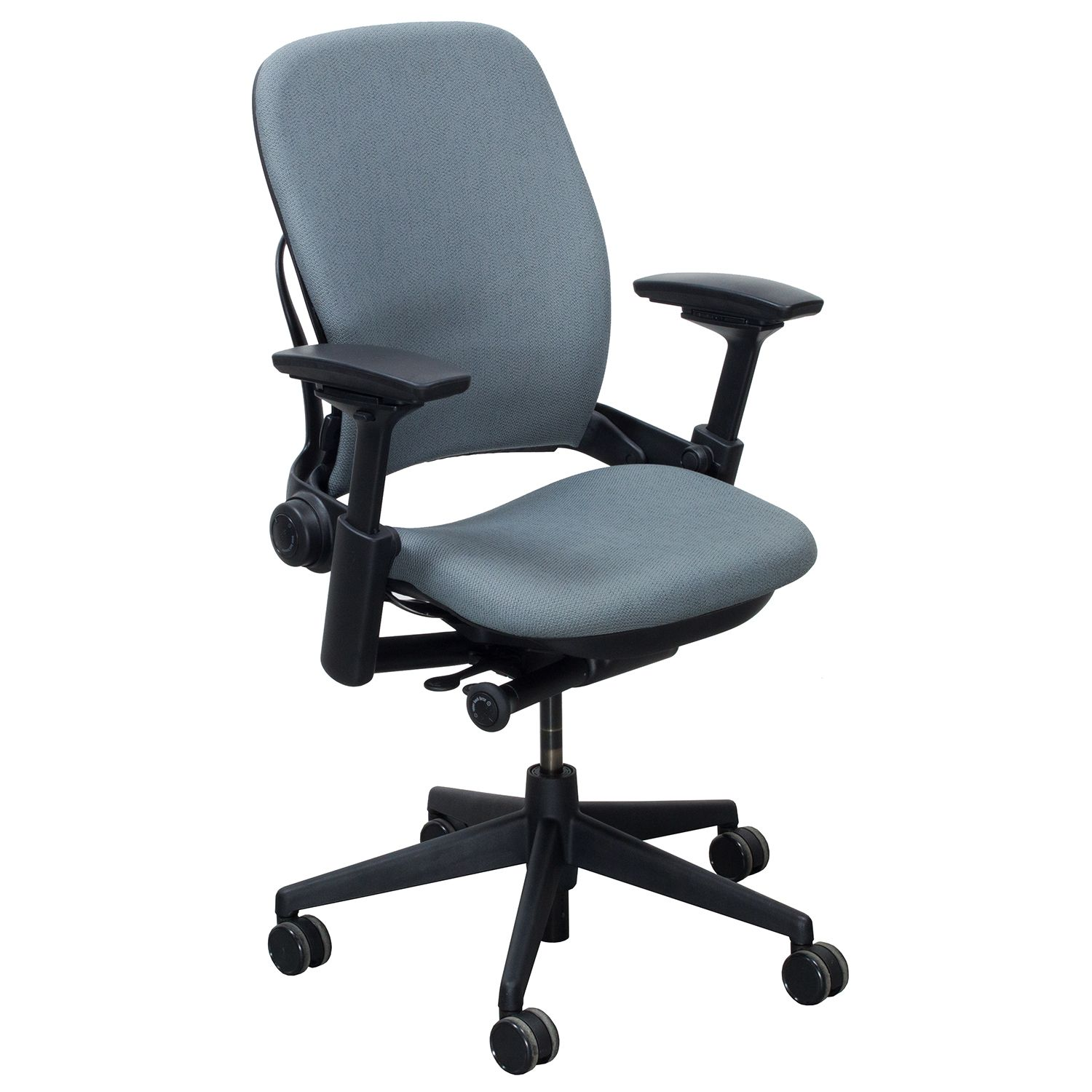 Steelcase Leap V2 Used Task Chair Blue Gray NOLstore