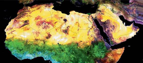 الجغرافيا دراسات و أبحاث جغرافية دراسة الصحراء الكبرى فى صور الفضاء Places To Visit Geography Blog Posts