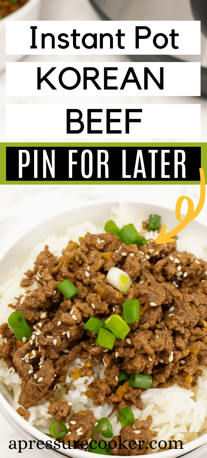 Korean Ground Beef Recipe For The Instant Pot Recipe In 2020 Beef Recipes Beef Recipe Instant Pot Instant Pot Dinner Recipes