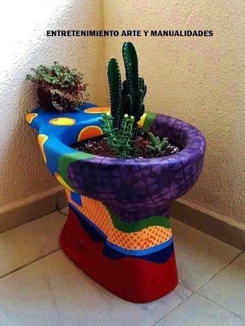 22 Objetos Alucinantes Reciclados En Macetas Diseños De Macetas Jardinería En Macetas Macetas Pintadas