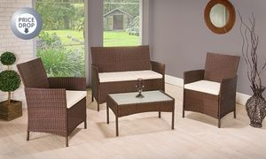 groupon four piece pe rattan garden furniture set for 10998 with free delivery