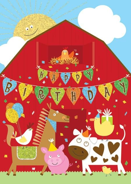 Welcome To Our Retail Store Farm Animal Birthday Birthday Cards Farm Animals
