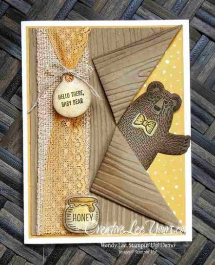 Baby Cards Stampin Up Bear Hugs 50 Ideas #baby