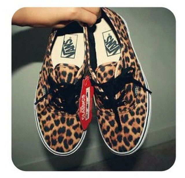 cheetah vans❤ Getting these when I go school shopping ;)