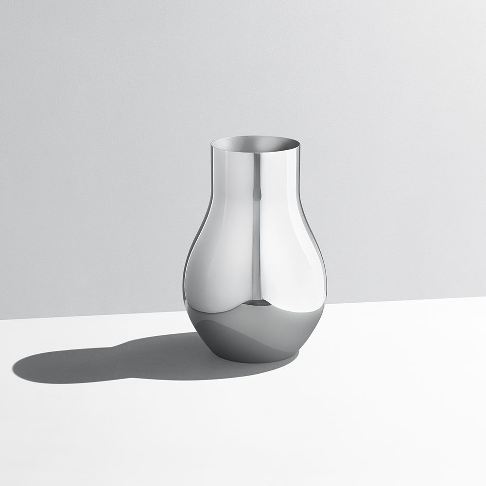 Cafu Series By Georg Jensen Vase In Polished Steel Design Sebastian Holmback Ulrik Nordentoft