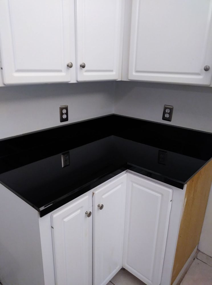 Spray Paint Glaze Kitchen Counter Make Over Formica