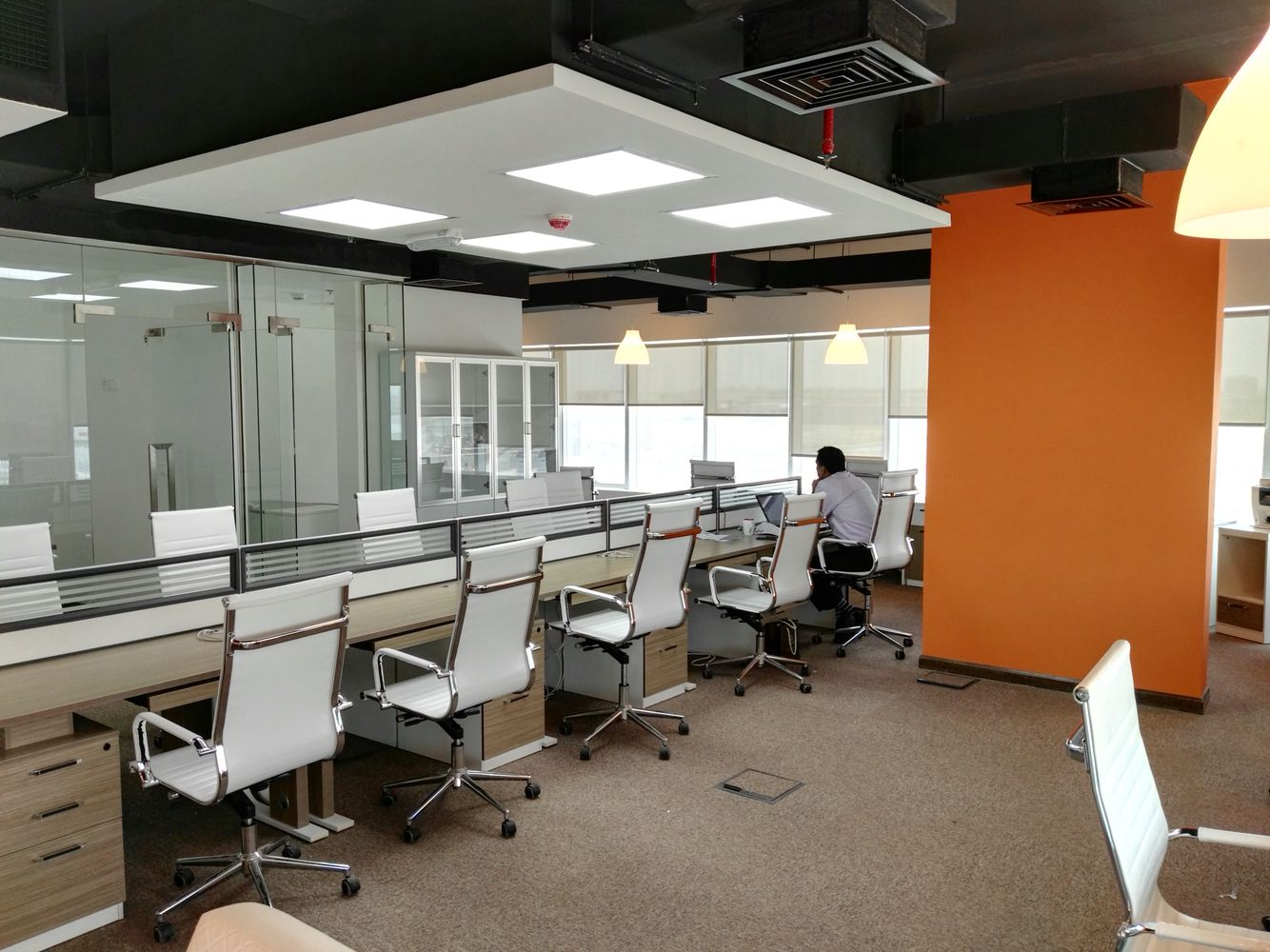 Small Office Space Solutions From Different Projects Done By Quantum Interior Design Works For Booking A Office Space Solutions Small Space Office Small Office