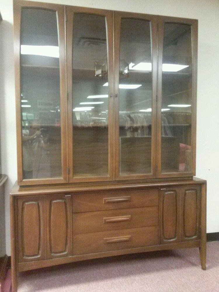 danish modern walnut china cabinet hutch buffet credenza ideas cabinets sale canada