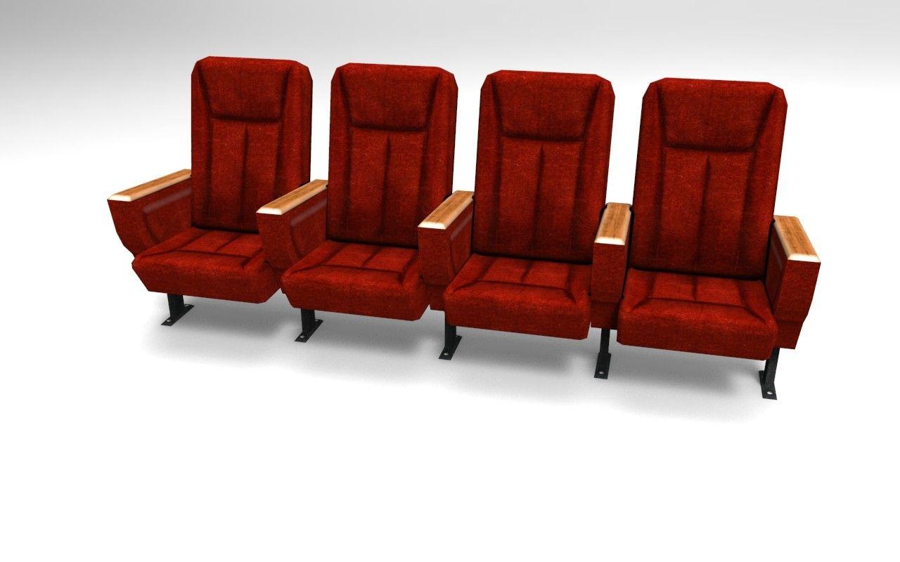 theater ready seat fbx obj dxf maya cinema movie Theatre