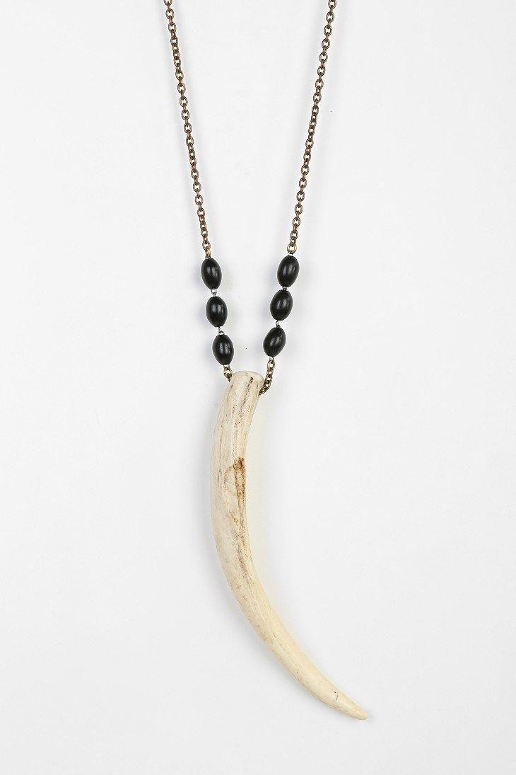 Lux Revival Vintage Antler Necklace
