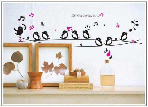 Birds Wall Decals HttpAmazoncom New Design Grey And Brown - Bird window stickers amazon