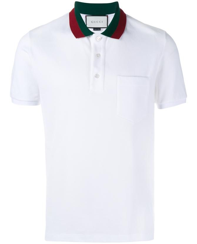 8b28dbe05 GUCCI Striped Collar Polo T-Shirt. #gucci #cloth # | Gucci Men ...