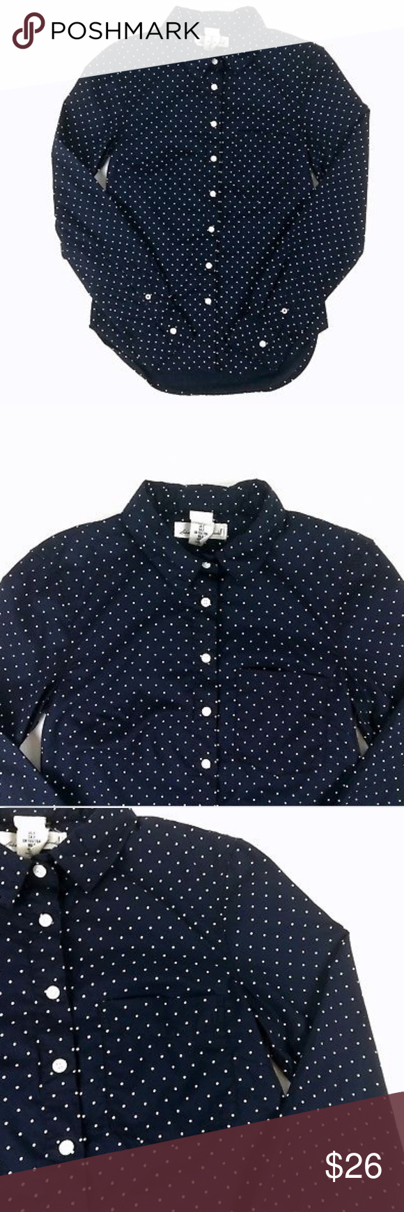 a8f565c1f4d74 Label of Graded Goods button down top women s 2      Qualifies for 3 for   25 deal      Label of Graded Goods H M button down top women s size 2 long  sleeve ...