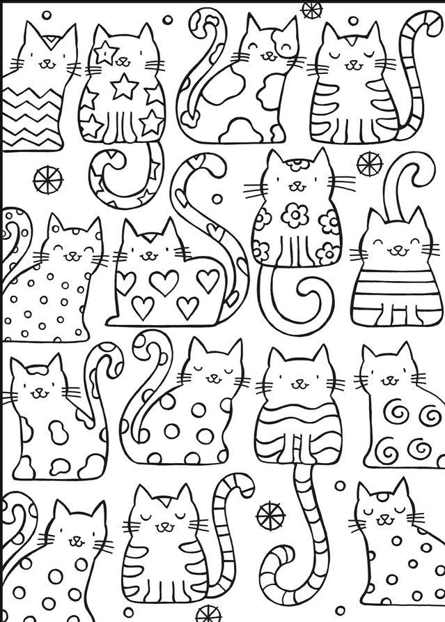 Welcome To Dover Publications Cat Coloring Book Coloring Books Coloring Pages