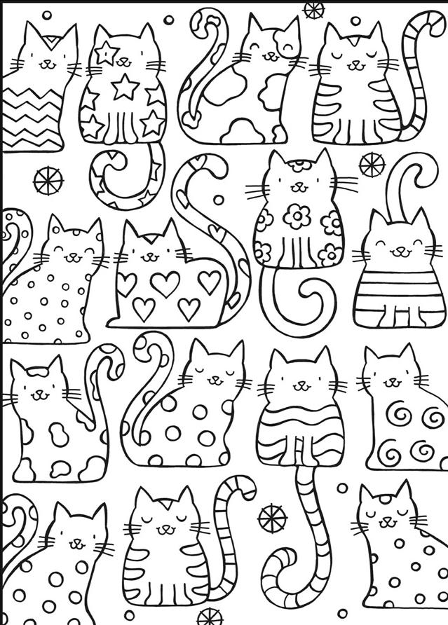 Kleurplaten Huisdier.Welcome To Dover Publications Kleurplaat Coloring Poes Cat Kat