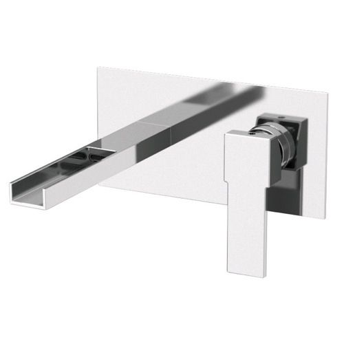 Rectangular Built in Basin Mixer with Waterfall Spout