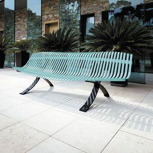 banc de jardin / design original / en acier / en aluminium FERMOB ...