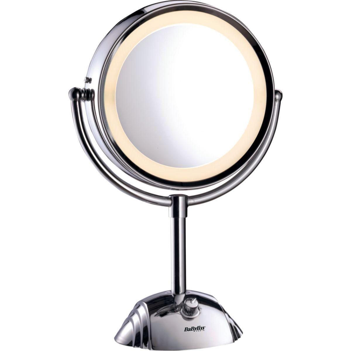 miroir lumineux halo circulaire pour un clairage parfait du visage et du cou miroir. Black Bedroom Furniture Sets. Home Design Ideas