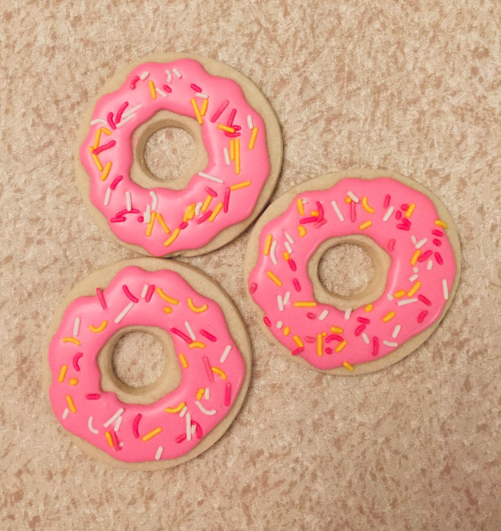 Donut Cookies | Cookie decorating, Cookie cake, Cookies