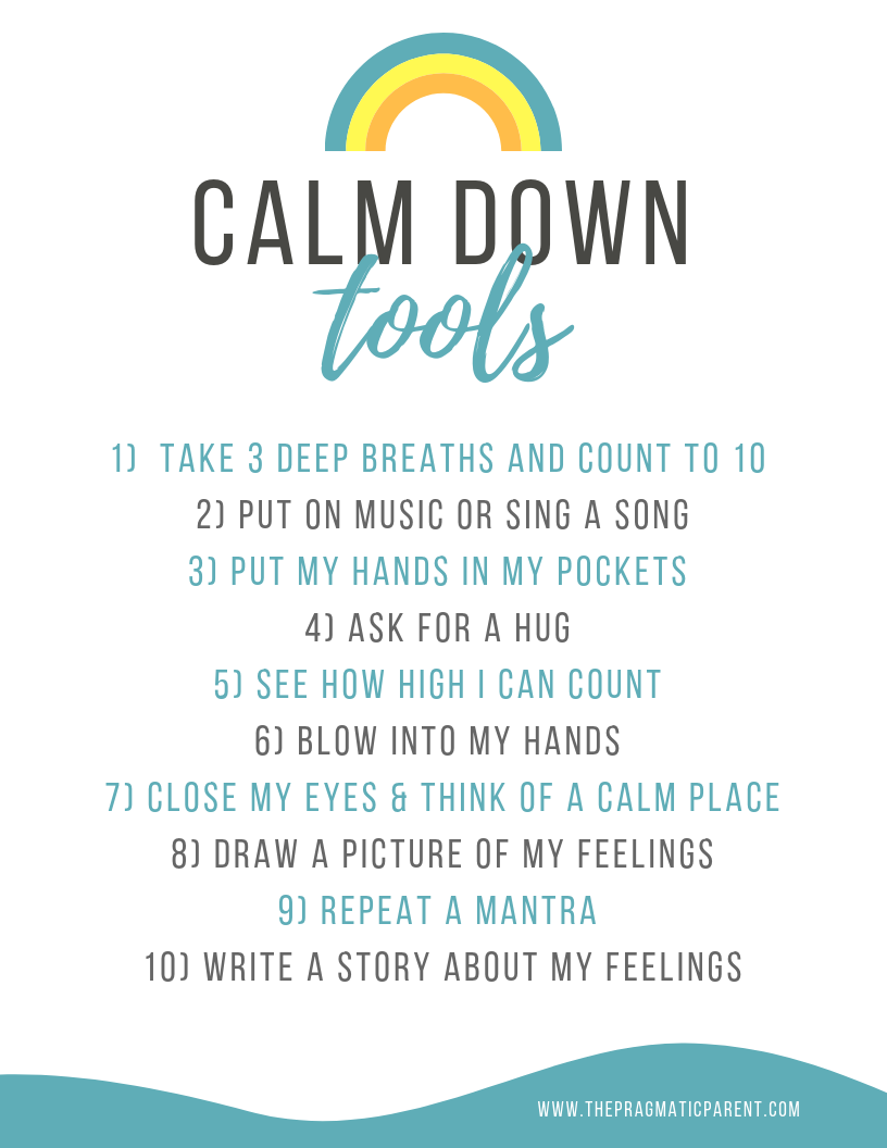 Anger Management Calm Down Tools for Kids to Use Anywhere