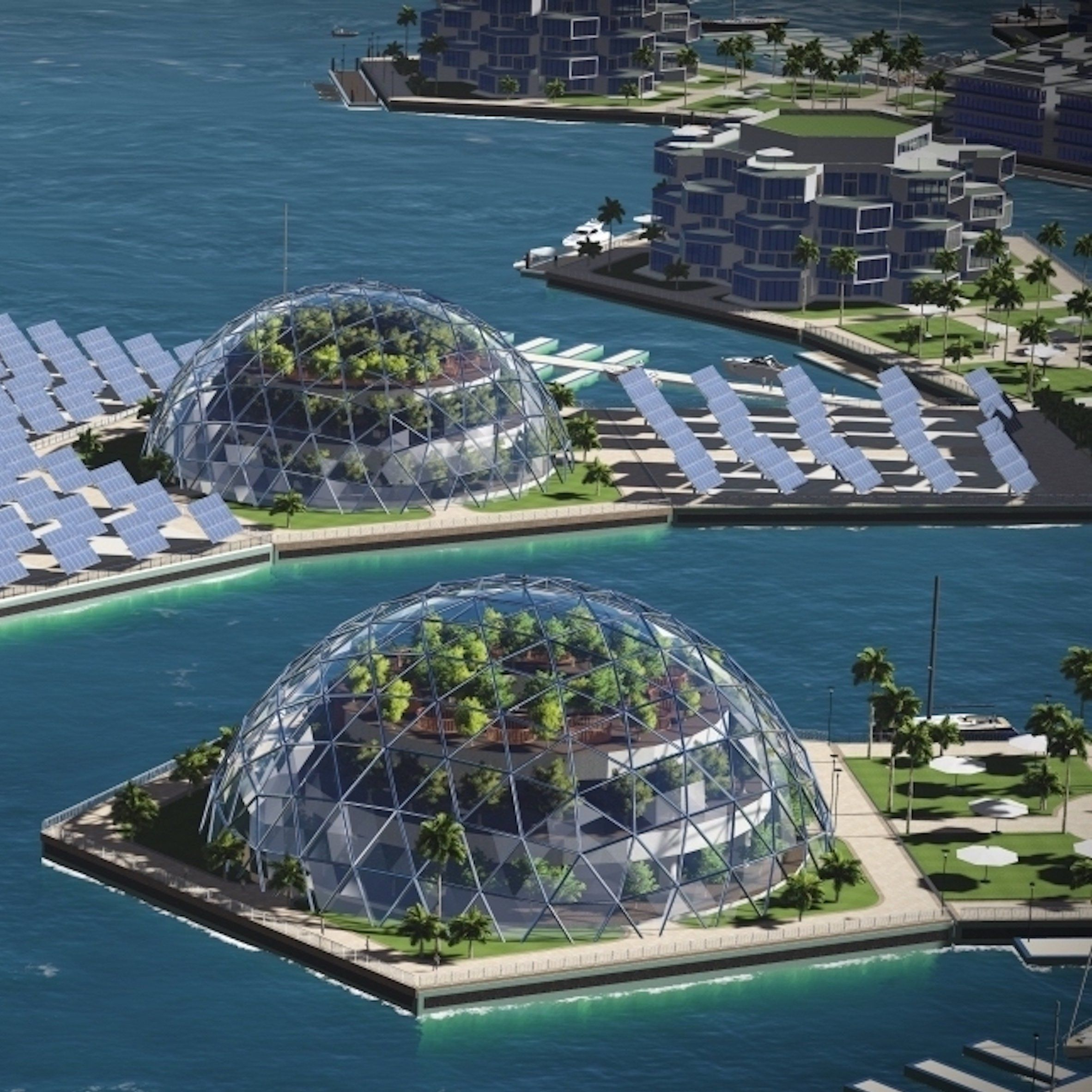A Plan To Build Self-sufficient Floating Cities Outside Of
