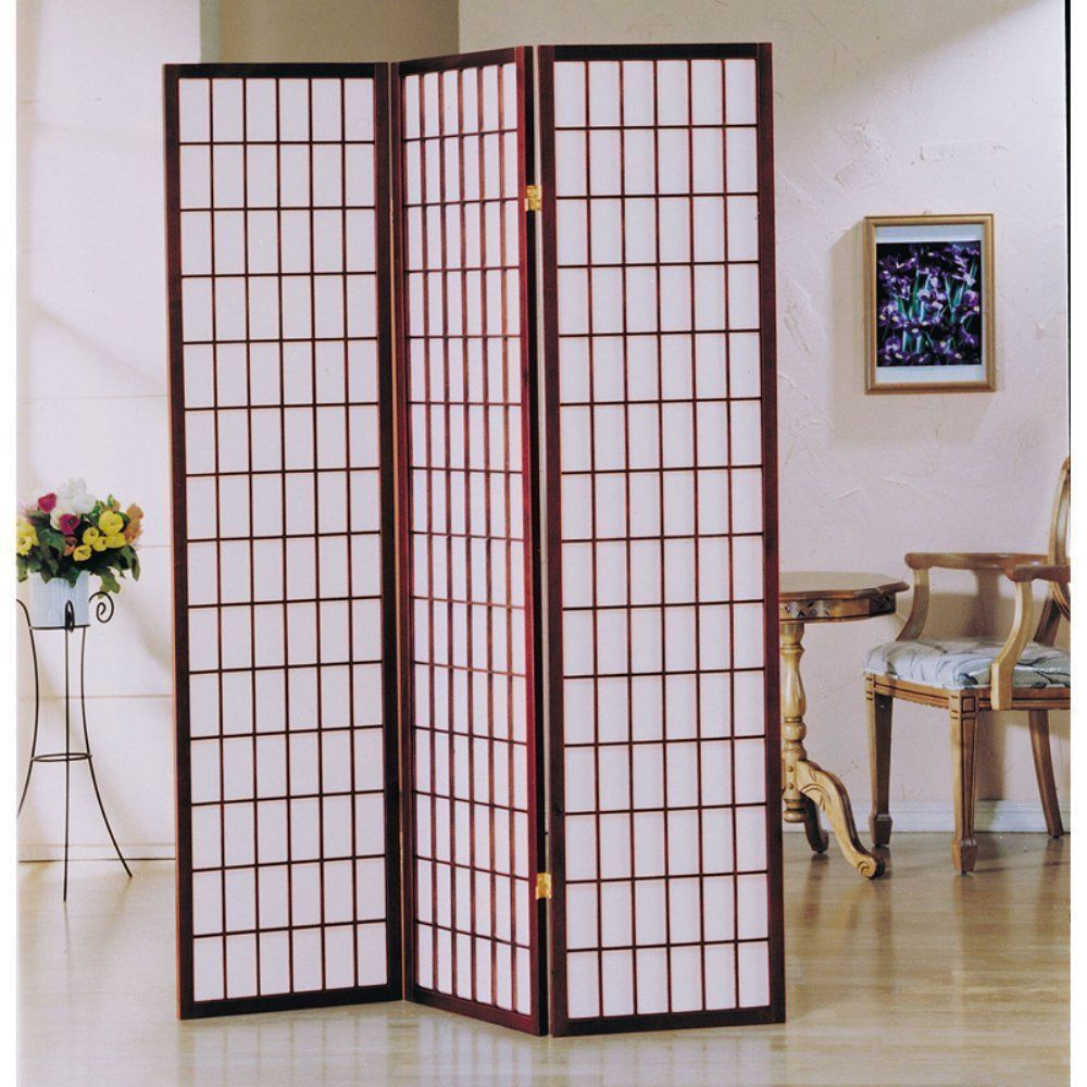 Screens And Room Dividers 31601 3 Panel Living Screen Divider Office Partition Wall Wooden