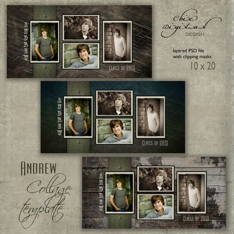 Storyboard Template Collage Template Andrew 10x20 Photo