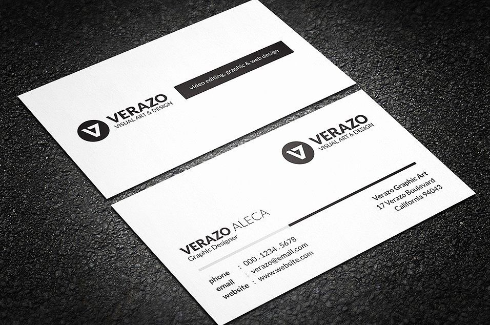 Simple Business Card Template Free Beautiful Simple Black White Business Card Business Simple Business Cards White Business Card Free Business Card Templates