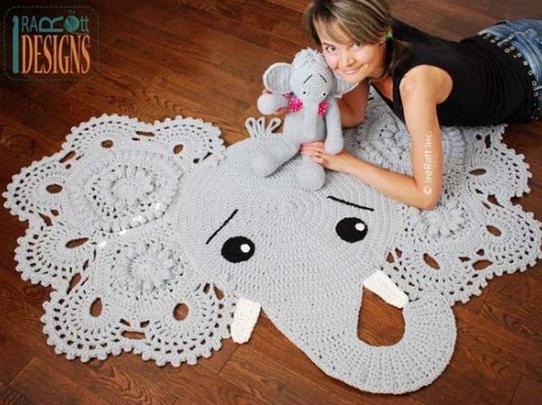 Crochet Animal Rugs Beautiful Patterns | Tejido facil, Alfombras de ...